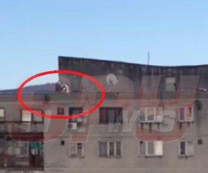 ATENŢIE, IMAGINI ŞOCANTE! Judecătorul sinucigaş a fost filmat în timp ce plonja de la etajul 10!