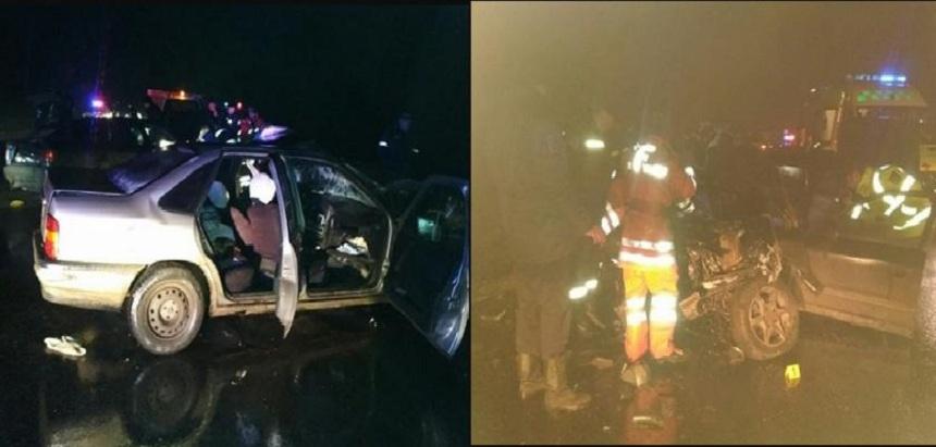 Fotografii de la scena accidentului