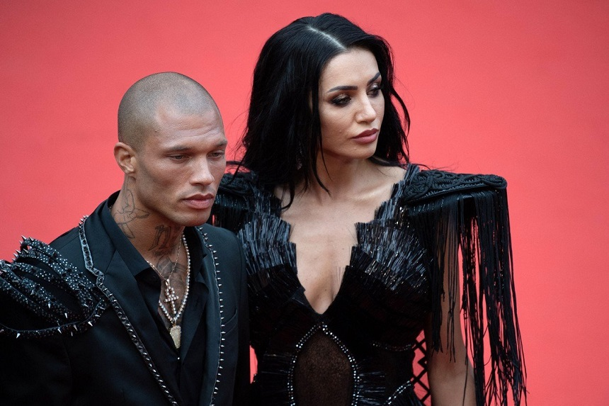 Jeremy Meeks heads out with model Andreea Sasu at Cannes ...  |Andreea Sasu