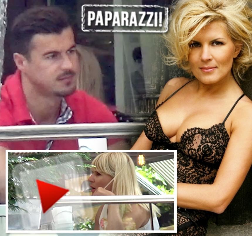 Elena Udrea, îndrăgostită ca o adolescentă! Ce a făcut, la terasă, cu iubitul ei / Video paparazzi